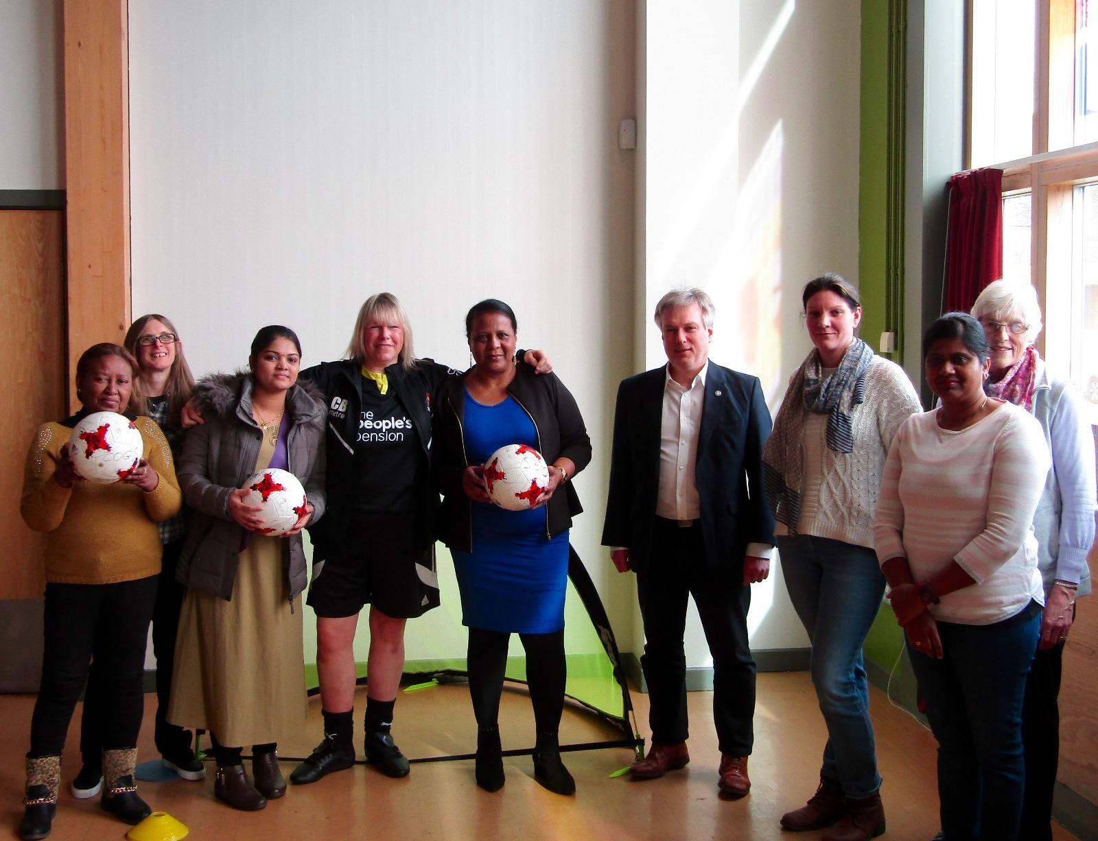 Rivers IWD local community football taster