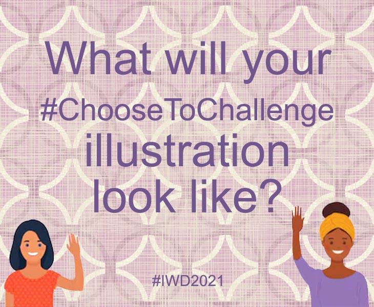 IWD ChooseToChallenge illustration