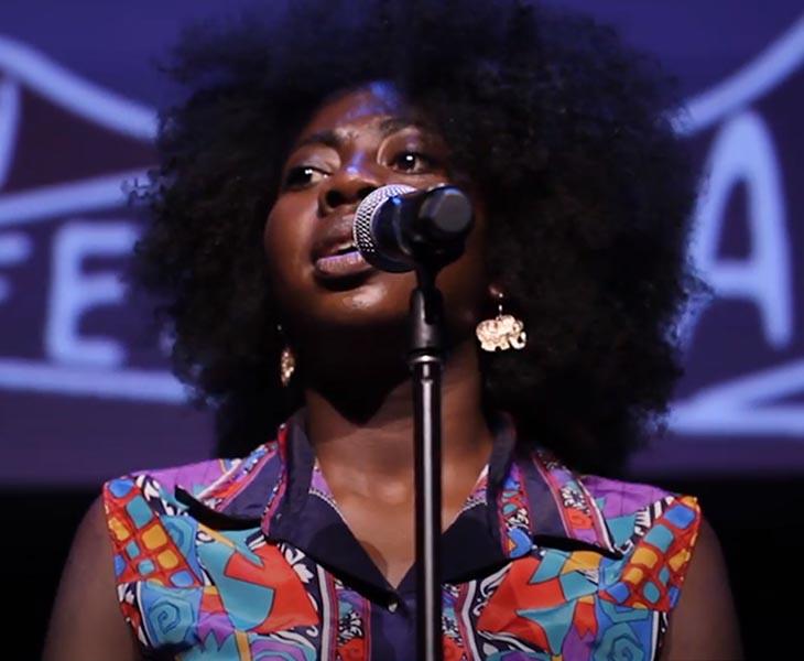 IWD - Anisa Nandaula - spoken word poet