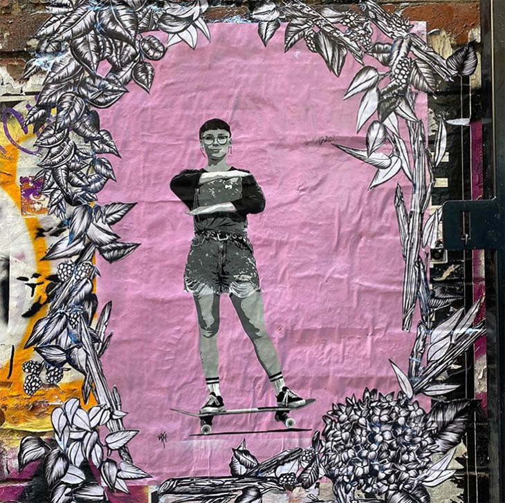 IWD streetart by VKM and Manda Lane