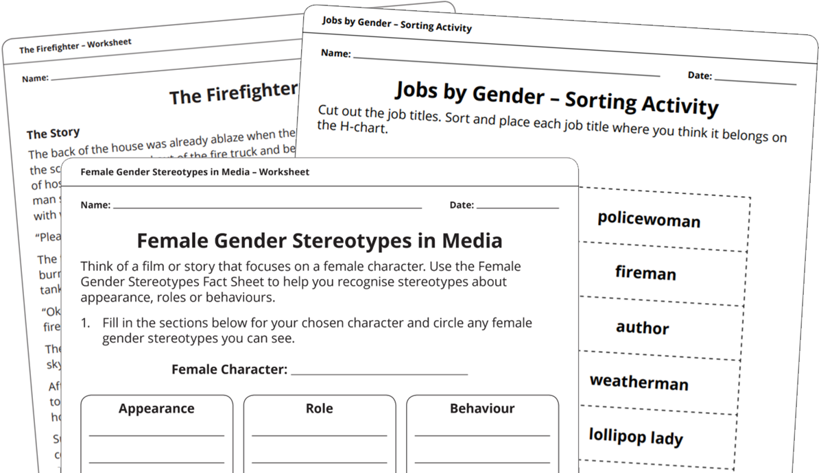 Gender Stereotypes - school resources