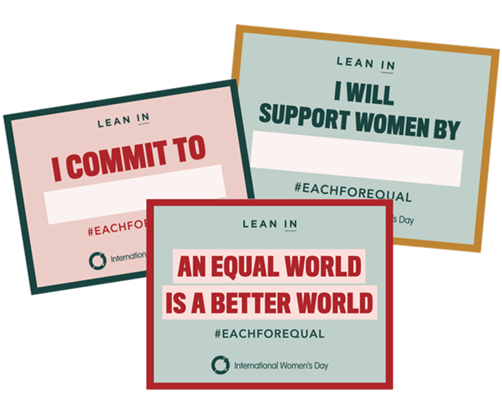 International Women's Day resources - IWD LeanIn SelfieCards